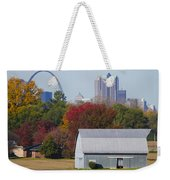 St Louis Skyline From Illinois Weekender Tote Bag