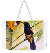 St. Lucia Oriole And Papaya Weekender Tote Bag