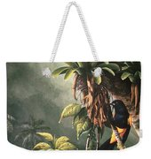 St. Lucia Oriole In Bromeliads Weekender Tote Bag