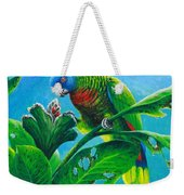 St. Lucia Parrot And Bwa Pain Marron Weekender Tote Bag