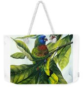 St. Lucia Parrot And Fruit Weekender Tote Bag