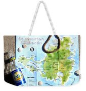 St. Martin St. Maarten Map Weekender Tote Bag