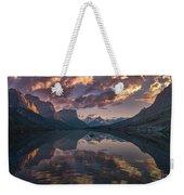 St Mary Lake At Dusk Panorama Weekender Tote Bag