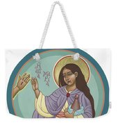 St Mary Magdalen  Rabboni -  John 20 16 Weekender Tote Bag by William Hart McNichols