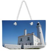 St. Mary's Island And The Lighthouse. Weekender Tote Bag