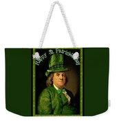 St Patrick's Day Ben Franklin Weekender Tote Bag