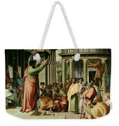 St. Paul Preaching At Athens  Weekender Tote Bag by Raphael