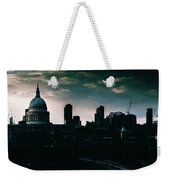 St Paul's Cathedral And Millennium Bridge In The Evening In London, England Weekender Tote Bag