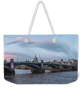 St. Paul's Cathedral Behind The Southwark Bridge During Sunset Weekender Tote Bag
