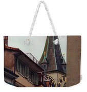 St. Peter Tower Zurich Switzerland Weekender Tote Bag by Susanne Van Hulst