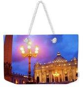St. Peters Cathedral At Night Weekender Tote Bag