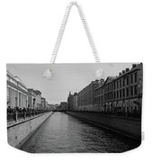 St Petersburg Waterway - Black And White Weekender Tote Bag