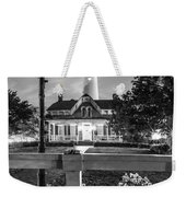 St. Simons Lighthouse Black And White Weekender Tote Bag