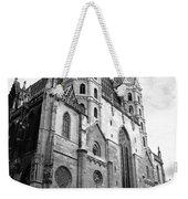 St Stephens Cathedral Vienna In Black And White Weekender Tote Bag