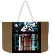 St. Theresa Stained Glass Window Weekender Tote Bag