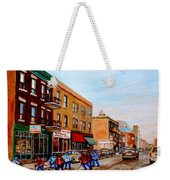 St. Viateur Bagel Hockey Game Weekender Tote Bag