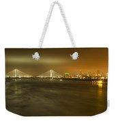 Sta Musial Bridge And St Louis Skyline Weekender Tote Bag