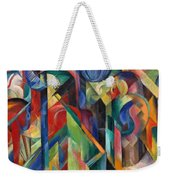 Stables By Franz Marc Bright Painting Of Horses In A Stable Weekender Tote Bag