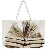 Stack Of Open Books Weekender Tote Bag by Elena Elisseeva