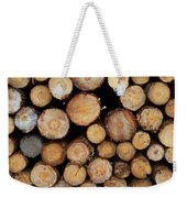 Stacked Timber Two Weekender Tote Bag