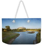 Stadium And Park Panorama Bleach Bypass Weekender Tote Bag