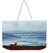 Stag Overlooking The Beauly Firth And Inverness Weekender Tote Bag