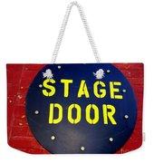 Stage Door Weekender Tote Bag