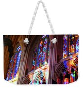 Stain Glass Cathedral Weekender Tote Bag