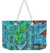 Stained Glass Agave Two  Weekender Tote Bag