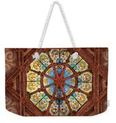 Stained Glass Ceiling Window Weekender Tote Bag