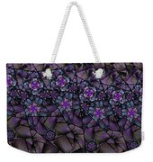Stained Glass Floral II Weekender Tote Bag
