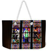 Stained Glass Glory Of St Patricks Weekender Tote Bag