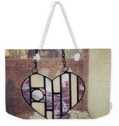 Stained Glass Heart Weekender Tote Bag