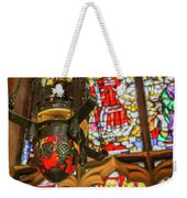 Stained Glass Lantern And Window Weekender Tote Bag