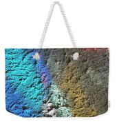 Stained Glass Light On Stucco Weekender Tote Bag