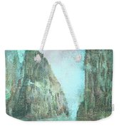Stained Glass Mountain Temple Weekender Tote Bag