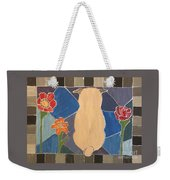 Stained Glass Pug Weekender Tote Bag