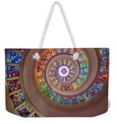 Stained Glass Spiral Weekender Tote Bag