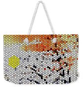 Stained Glass Sunset Weekender Tote Bag
