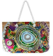 Stained Glass Table Top Weekender Tote Bag