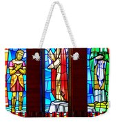 Stained Glass Triptych Weekender Tote Bag
