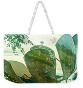 Stainless Steel Sculpture Called First Flower In Buenos Aires-argentina  Weekender Tote Bag