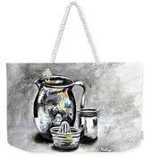 Stainless Steel Still Life Painting Weekender Tote Bag