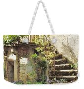 Stairway With Flowers Flavigny France Weekender Tote Bag