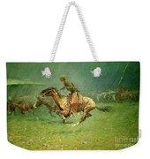 Stampede By Lightning, Digitally Enhanced, Frederic Remington Weekender Tote Bag