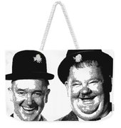 Stan And Ollie - Parallel Hatching Weekender Tote Bag