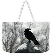 Crow Stance On Cold Stone Weekender Tote Bag