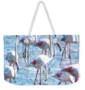 Stand Out In The Crowd Flamingo Watercolor Weekender Tote Bag