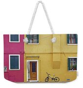 Standing By For A Quick Get Away In Burano Italy Weekender Tote Bag
