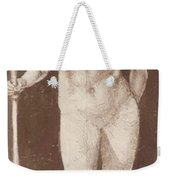Standing Female Nude With Baton In The Right Weekender Tote Bag